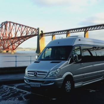 Our Vehicles in Front of Forth Rail Bridge